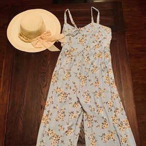 Xhilaration Pants - Floral Summer Jumpsuit